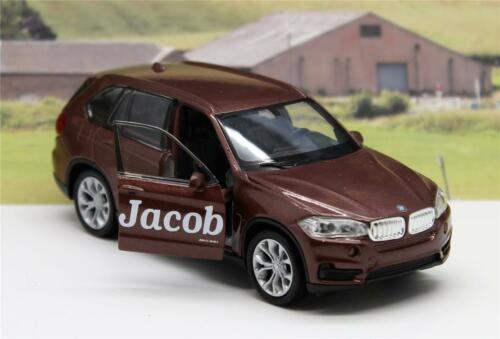PERSONALISED NAME White BMW X5 Boys Toy Model Dad Car Present Boxed