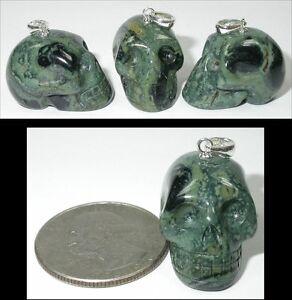 Rare 1 kambaba jasper crystal skull pendant or pendulum w sterling image is loading rare 1 kambaba jasper crystal skull pendant or mozeypictures Images