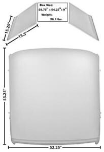 65 66 Mustang Coupe Roof Panel Skin W Separate Sail Panels Dynacorn Ebay