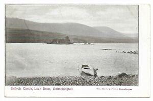 POSTCARDS-SCOTLAND-AYRSHIRE-DALMELLINGTON-RP-Balloch-Castle-amp-Loch-Doon
