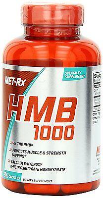 Met Rx HMB 1000 mg  BCAA AMINO ACID 90 Capsules BUILD MUSCLE MASS