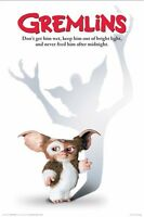 Gremlins Gizmo Mogwai 24x36 Movie Poster Don't Get Him Wet Feed After Midnight