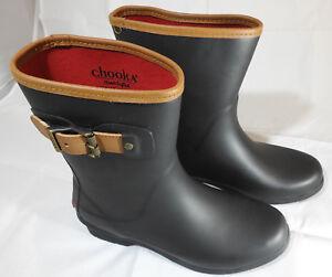 bd96e6eec59b Chooka Women s Mid-Height Memory Foam Rain Boot Black 8 M US