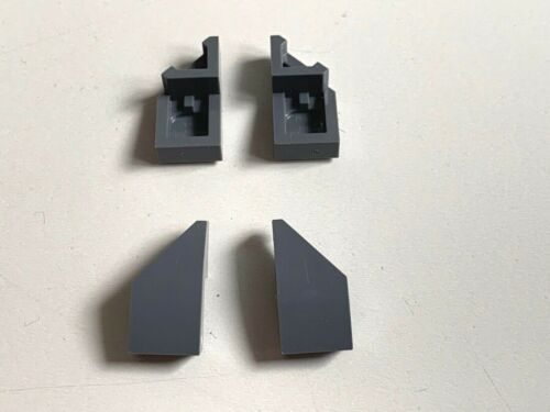 LEGO 4x Wedge 2x1 with Stud Notch Left Right 6204667 6204668 Dark Bluish Grey