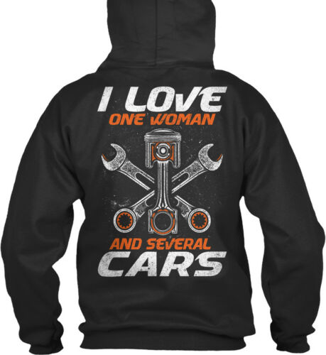 And Several Cars Standard College Hoodie Mechanic I Love One Woman