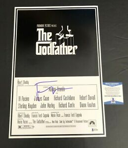 FRANCIS FORD COPPOLA SIGNED THE GODFATHER 12X18 POSTER AUTOGRAPH BECKETT COA 3