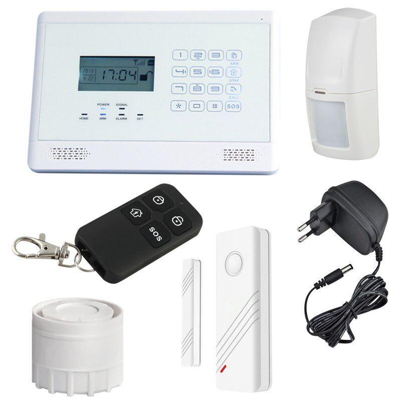 MT Vision Funk GSM Alarmanlage LCD Alarm System AS-200 Telefonanruf bei Alarm