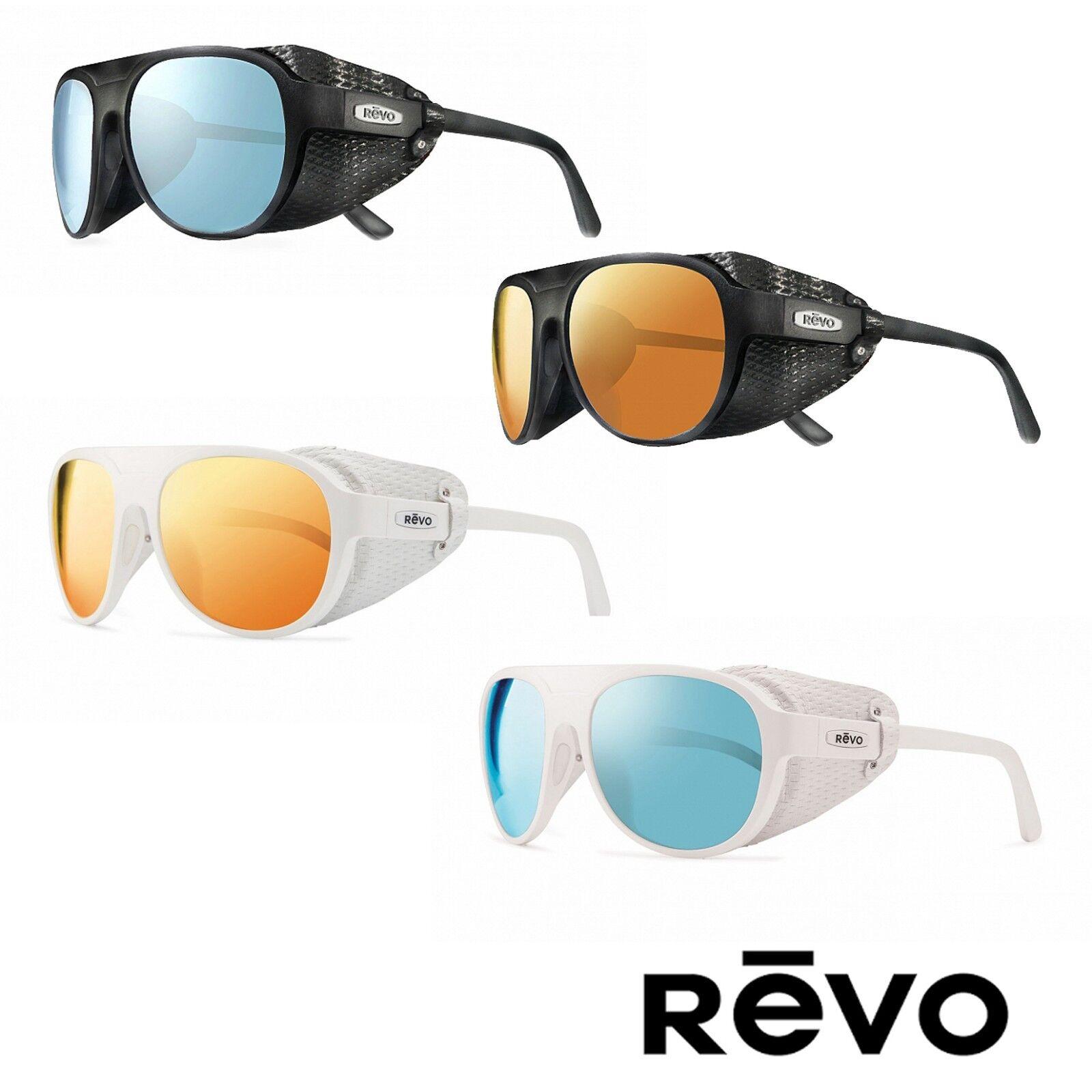 2b8d3b7ba01 REVO Traverse Re 1036 09 BL Polarized Oval Sunglasses White blue Water 57  Mm