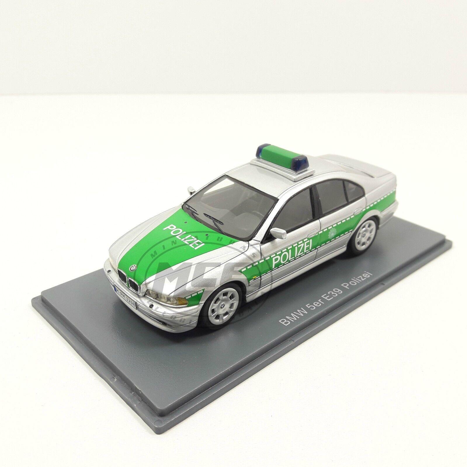 1 43 BMW 530i (E39) (E39) (E39) PLATA verde POLICE GERMANY POLICIA ALEMANIA NEO 1e0dd0