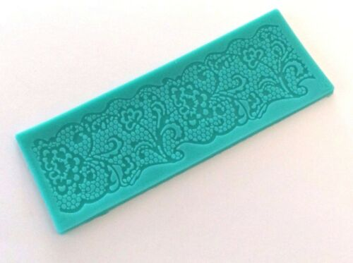 small floral lace edge Mat Mould sugar craft Silicone Cake decorating birthday