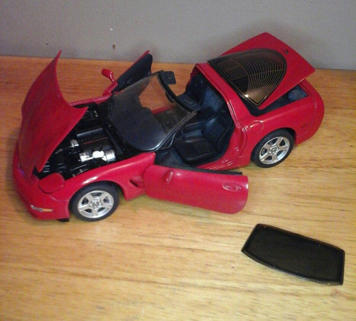 FRANKLIN MINT 1997 CORVETTE rojo 1 24 DIECAST CAR VERY DETAILED AWESOME