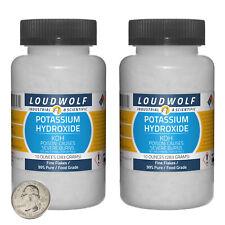 Potassium Hydroxide 13 Pounds 2 Bottles 99 Pure Food Grade Fine Flakes