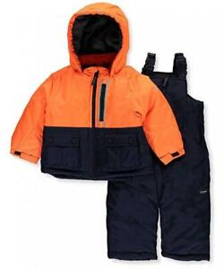 2753fa1e8 Osh Kosh B gosh Infant Boys Orange   Navy Snowsuit Size 12M 18M 24M ...