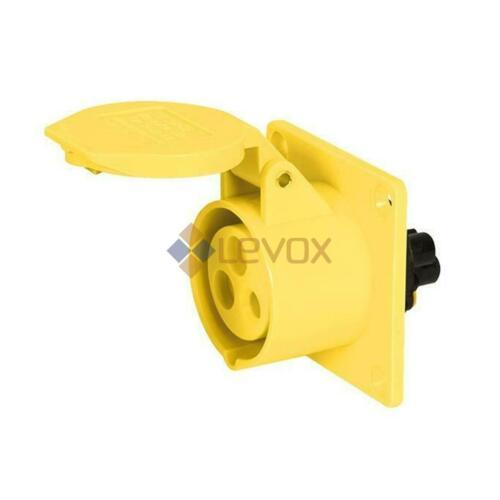 110V 16A 3 Pin Yellow Industrial Plugs /& Sockets Caravan Camping IP44 Hook-Ups