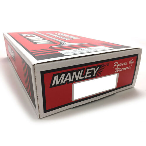 Manley Intake Valve Set 11140-8; Race Flo 37.00mm x 104.60mm Stainless 5.97mm