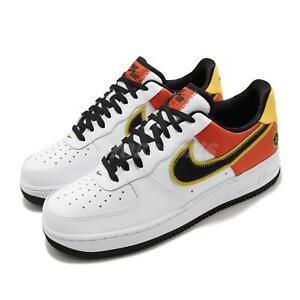 Details about Nike Air Force 1 07 LV8 AF1 Rayguns White Black Orange Flash Men Shoe CU8070-100