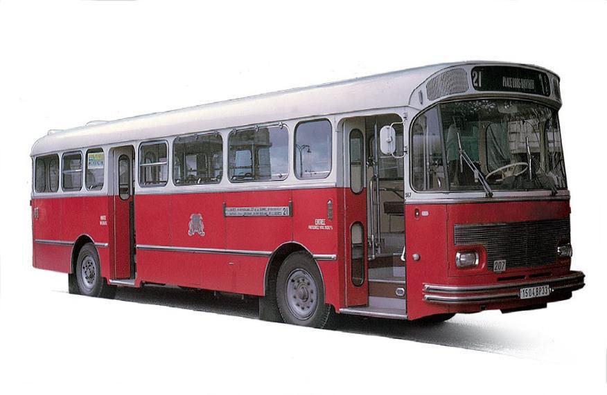 Saviem s105m 1969 bordeaux bus 1 43 modell norev