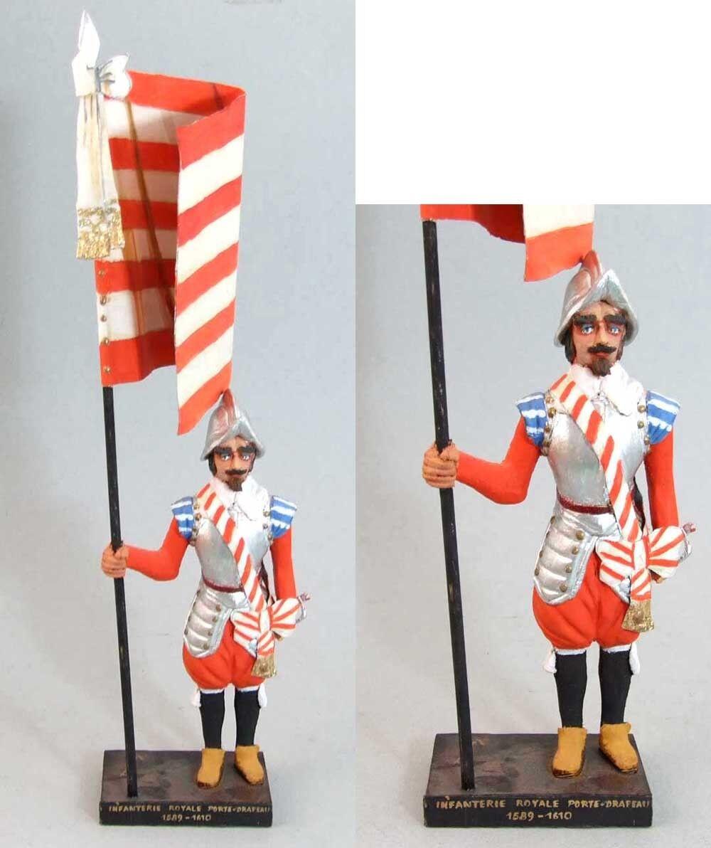 LEMAITRE Figura INFANTERÍA REAL PORTADOR DE BANDERA 1589 soldado juguete antiguo