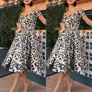 Women-Dress-Evening-Fashion-Cocktail-Dress-Off-Shoulder-Party-Short-Sleeve