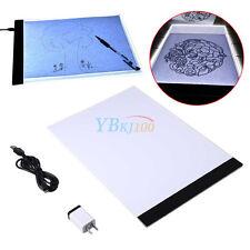 A4 LED Artist Thin Art Stencil Board Light Box Tracing Drawing Base Pad Set New