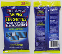 25 Electronic Wipes For Lcd Monitors Flat Screen Tvs Cell Phones Ipad - Free S&h