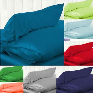 Silk Satin Pillow Case Silky Breathable Queen Colors Soft
