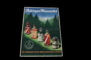 Age Print Flyer Thuringian Home Remedy Meuselbach Advertising Collector vintage