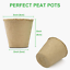 thumbnail 4 - GROWNEER 60 Packs 4 Inch Peat Pots Plant Starters For Seedling With 15 Pcs Plant