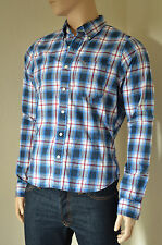 NEW Abercrombie & Fitch Wolf Pond Shirt Blue & Red Plaid Check XXL RRP £82