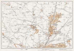 Rotherham N Rawmarsh Yorkshire 1938 Map 81 eBay