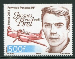 Frz-Polynesien-Polynesia-2013-Jaques-Brel-Flugzeug-Airplane-Aircraft-MNH