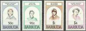 Timbres-Personnages-Barbuda-507-10-lot-19301