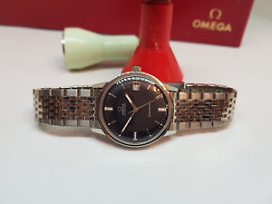 VINTAGE-1968-OMEGA-SEAMASTER-Quadrante-Nero-Data-Automatico-CAL-565-Man-039-s-Watch