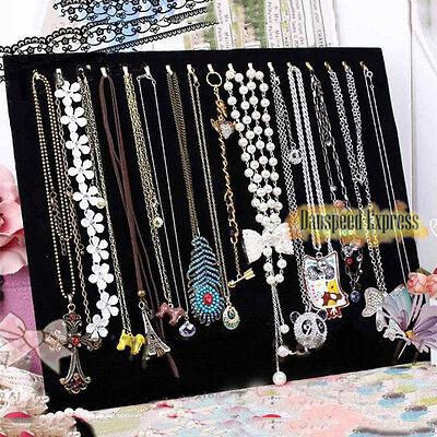 Fashion Velvet Necklace Pendant Chain Link Jewelry Bracelet Display Holder Stand