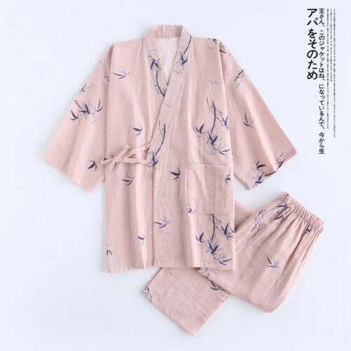 New Luxurious Ladies Womens Pink with Bamboo Kimono Pyjama Pajama ladpj180