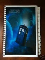 Password Book Internet Website Address Book A-z Tabs Dr Who Personalized Gift