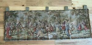 Vintage-BELGIUM-Tapestry-Victorian-Picnic-Outdoor-WINDOW-VALANCE-Curtain-57-x-22