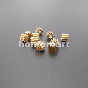 10X 102A Brass Gear 0.5Modulus T=10 Aperture 2mm DIY Model Accessories 10T Metal