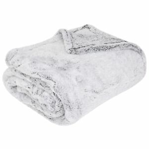 Fleece-Throw-Luxuries-Brillo-Piel-Sintetica-Invierno-Calido-Manta-lanza-Sherpa-Throw