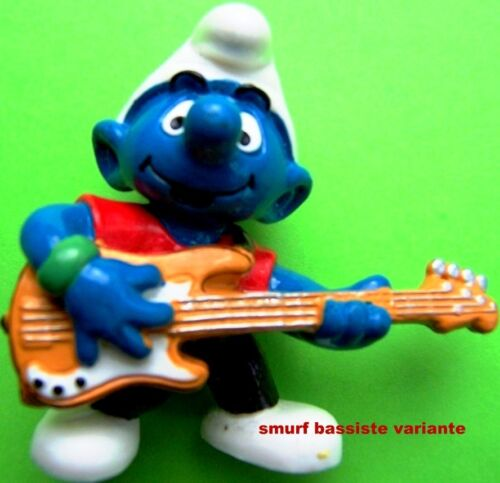 20449 schtroumpf bassiste GUITARE smurf pitufo puffo puffi schtroumpfette rar.