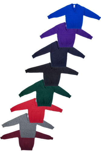 Only Uniform Boys School Knitted V Neck Plain Pullover Pack Of 3 With Marker Set