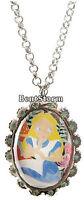 Disney Tim Burton 20 Alice In Wonderland Cameo Pendant Necklace Jewelry