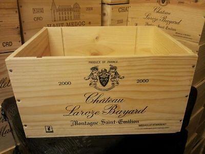 6 BOTTIGLIA dimensione francese in legno cassa di Vino Scatola Cesto Di Stoccaggio Contrassegnato secondi