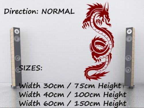 Dragon Chinois Wall Sticker Autocollant Vinyle 40 cm x 100 cm Genuine Broomsticker decor