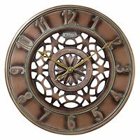 Bulova Gardner Bronze Metal Wall Clock C4853 on sale