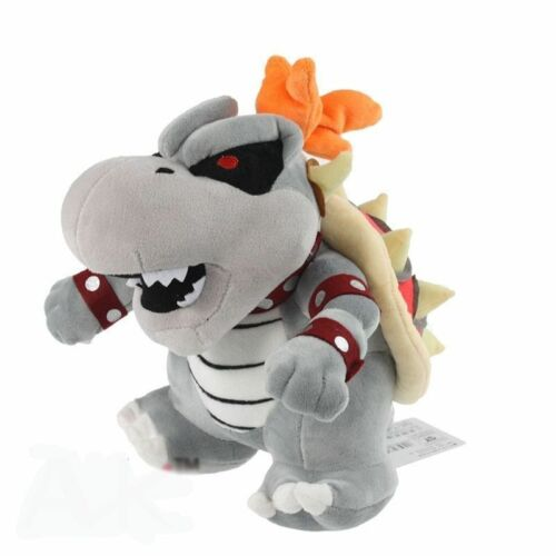 "10/"" Super Mario Dry Bowser Bones Koopa Plush Doll Soft Toy Stuffed Animal"