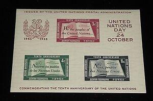 UNITED NATIONS #38,SOUVENIR SHEET 1955 MNH, 1st PRINTING, NICE!! LQQK