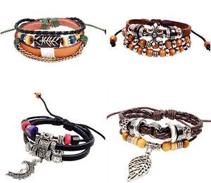 Damen-Herren-Charme-Armband-Bracelet-Vintage-Surferarmband-Geschenk-Urlaub-WOW
