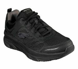 Walker-Skechers-Black-Shoes-Men-039-s-Memory-Foam-Cushion-Sport-Comfort-Mesh-232044
