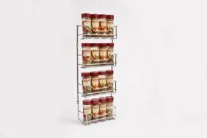 Spice-Rack-4-Tiers-Chrome-Kitchen-Organizer-Storage-Shelf-Cabinet-Holder-Silver